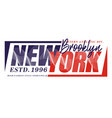 new york 1996 sport typography t-shirt graphics vector image vector image