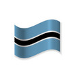 official flag of botswana vector image
