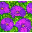Ornate violet flowers seamless pattern vector image vector image