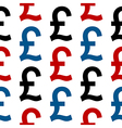 Pound symbol seamless pattern vector image