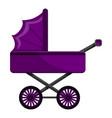 purple pram icon cartoon style vector image