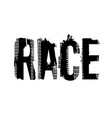 race off-road grunge lettering vector image vector image