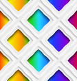 Rainbow colored rectangles holes and rim seamless vector image vector image