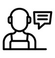 repairman call center icon outline style vector image vector image