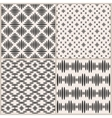 set four geometric seamless patterns vector image vector image