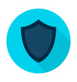 shield flat circle icon vector image vector image