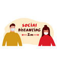 social distancing poster vector image