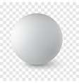 sphere on transparency background vector image vector image