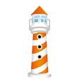 striped lighthouse icon image vector image vector image