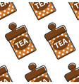 tea in metal container singapore product seamless vector image vector image