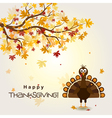 Template greeting card with a happy Thanksgiving t vector image
