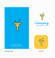 test tube company logo app icon and splash page vector image