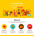 thanksgiving day website design vector image vector image