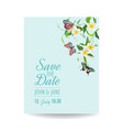 Wedding invitation template tropical design
