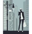 woman in new york city vector image vector image