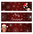Xmas banners set with cat and dog wish you a Merry vector image vector image