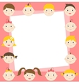 frame with cute boys and girls vector image