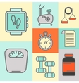 set of color line icons for personal vector image