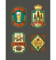 Collection of retro beer labels stickers vector image