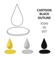 a drop of olive oilolives single icon in cartoon vector image vector image