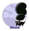 abc cartoon skunk vector image vector image
