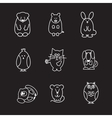 animal line icons vector image