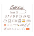 bakery icons design set vector image vector image
