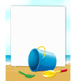 Banner with ocean view vector image vector image