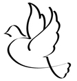 Bird symbol isolated vector image vector image