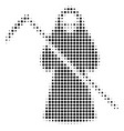 black dotted death scytheman icon vector image