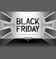 black friday monochrome background vector image vector image