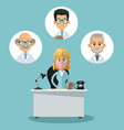 business and healthcare vector image vector image