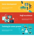 Career Banner Set vector image vector image
