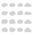 cartoon cloud sky on isolated vector image vector image