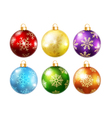 collection isolated christmas balls vector image vector image