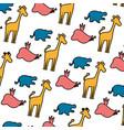 color silhouette wild animal safari background vector image vector image