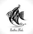 Exotic Fish Patterned Sea Logo Collection vector image vector image