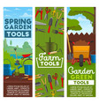 farm and garden tools vector image vector image