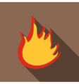 Fire icon flat style vector image vector image