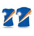 Flag shirt design of Marshall Islands vector image vector image
