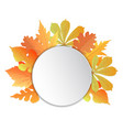 frame with leaves template for autumn events to vector image vector image