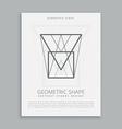 futuristic geometric shape vector image