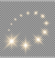 glittering flying stars golden vector image vector image