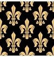 Golden floral heraldic seamless pattern vector image vector image