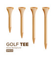 golf tees realistic of wooden vector image vector image