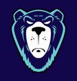 grizzly bear logo vector image vector image