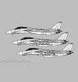 grumman f-14 tomcat vector image vector image