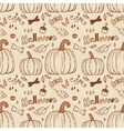 Hallowen hand-drawn seamless pattern vector image