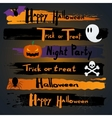 Happy Halloween CalligraphyBanner inscription vector image