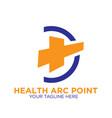 health cross medicine logo designs vector image vector image